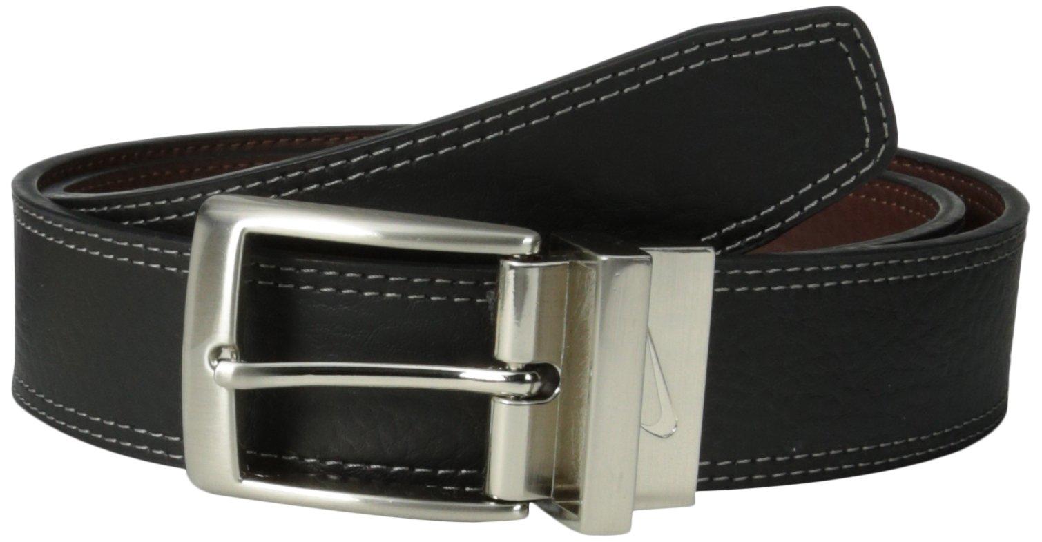 Nike Men's Classic Reversible Belt, Black/Brown, 38