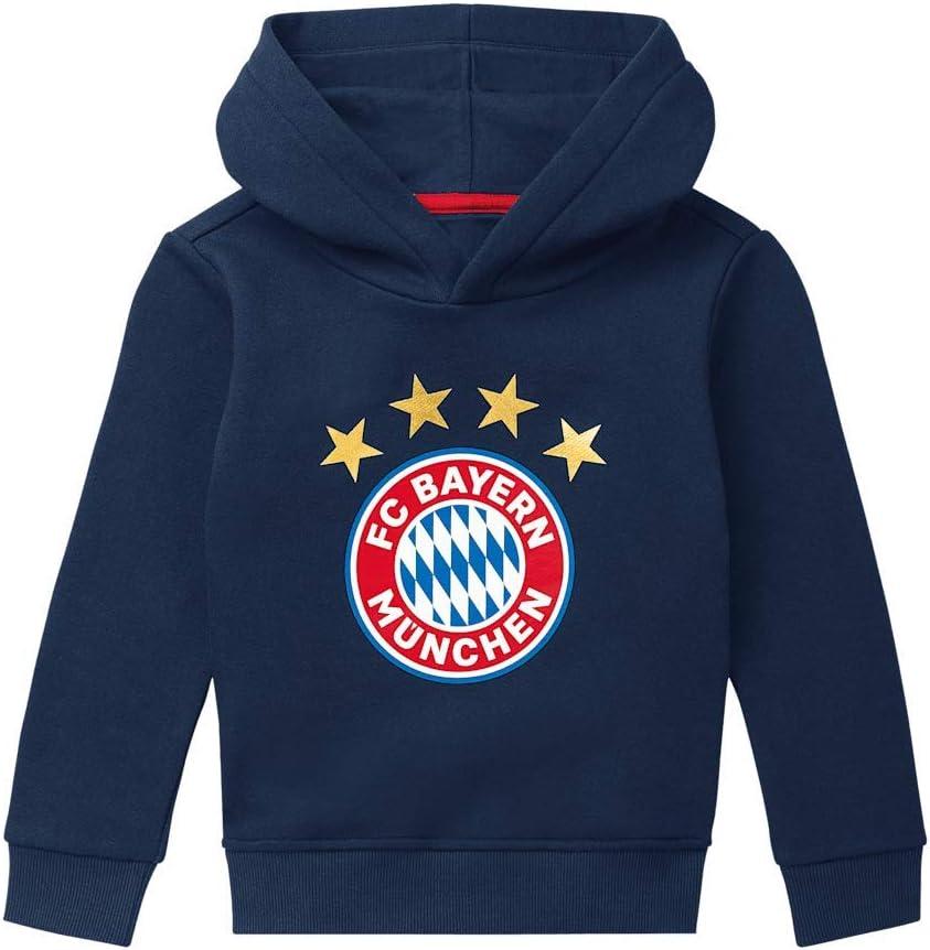 FC Bayern München Sudadera con Capucha Logo Azul Marino Niños Pequeños, 110