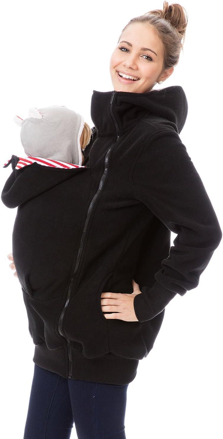 tasca a marsupio in pile con inserto per il beb/é o per la gravidanza GoFuture felpa 4 in 1 per il trasporto del beb/è in pile