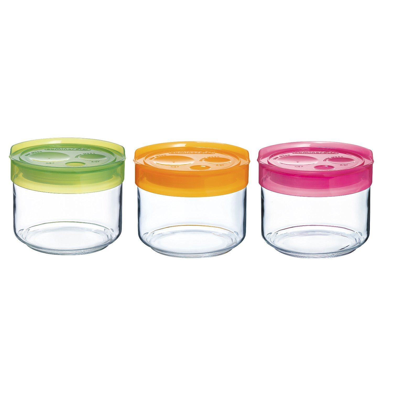 Luminarc Storing Box Set di 3 barattoli, Colore 1 l Arc Distribución Ibérica 9217440