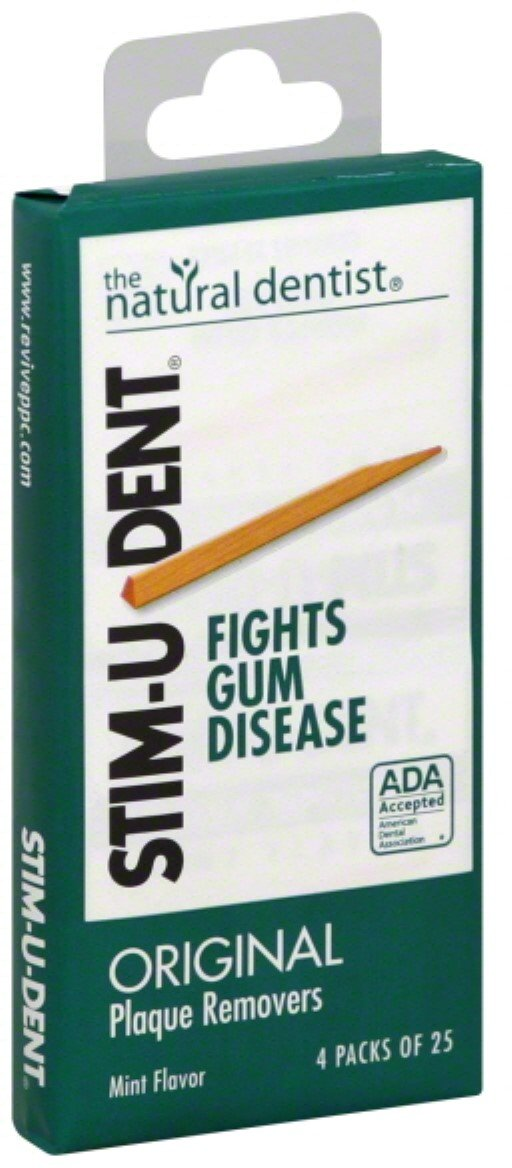 Stim-U-Dent Plaque Removers, Mint Flavor - 100 each, Pack of 5