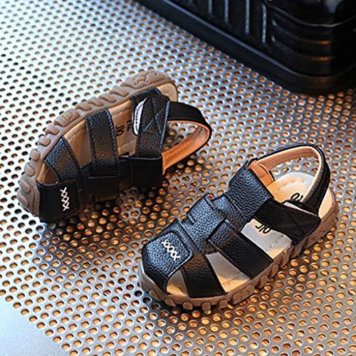In Estate Sneakers Roma Casual Prima Pelle Infanzia Ragazze Per Toe Scarpe Sandali Accogliente Nero Vovotrade Bambini Scarpine 312 Open Ragazzi xpYEPE