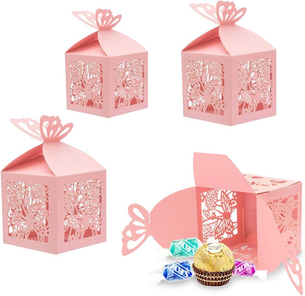 30x Favores Cajas para la Boda Cumpleaños Fiesta de Bienvenida al Bebé Sagrada Comunión Fiesta de Graduación Navidad o Varias Ocasiones,Caja para Bombones,Dulces,Chocolates,Pequeños Regalos