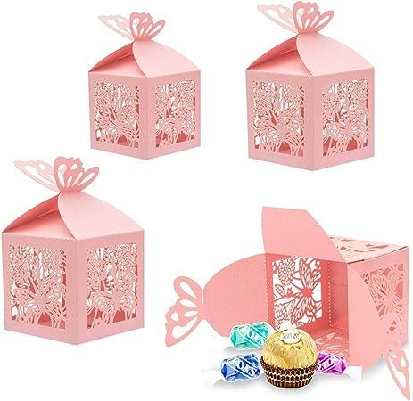 30x Favores Cajas para la Boda Cumpleaños Fiesta de Bienvenida al Bebé Sagrada Comunión Fiesta de Graduación Navidad o Varias Ocasiones,Caja para Bombones,Dulces,Chocolates,Pequeños Regalos: Amazon.es: Hogar
