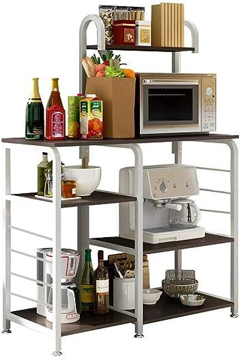 Mefedcy Furniture Kitchen Baker s Rack Storage Unit Shelving Microwave Stand 4-Tier 3-Tier Shelf for Spice Rack Organizer Workstation White