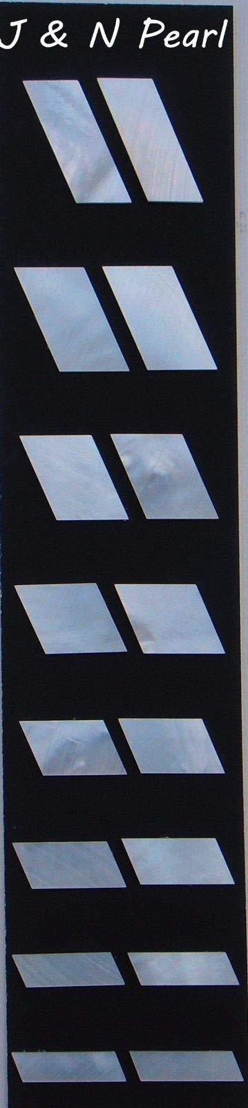 FidgetFidget Parallelogram Inlay Set Mother of Pearl per set for Acoustic Guitars 16pcs