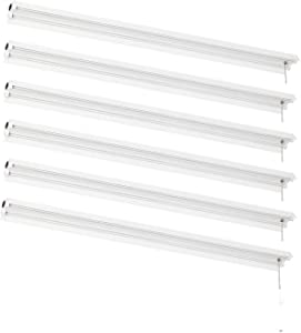 AmazonCommercial Linkable LED Utility Shop Light, 4-Foot, 4500 Lumens, 40 Watt, Energy Star and ETL Certified | Daylight, 6-Pack
