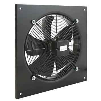 PrimeMatik - Extractor de Aire de Pared de 400 mm para ventilación Industrial 1360 RPM Cuadrado 540x540x80 mm: Amazon.es: Electrónica