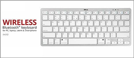 Trust Nado Ultra Slim Kabellose Bluetooth Tastatur Elektronik