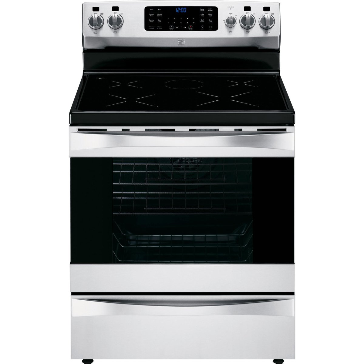 Amazon.com: Kenmore Elite 95073 6.1 cu. ft. Self -Clean Freestanding  Induction Range w/True Convection in Stainless Steel, includes delivery and  hookup: ...