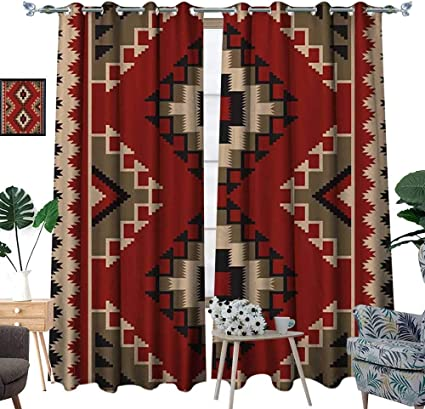 Afghan Room Darkening Wide Curtains Middle Eastern Folklore Pixel Art Triangles Afghan Style Geometric Illustration Customized Curtains Multicolor Amazon Co Uk Kitchen Home