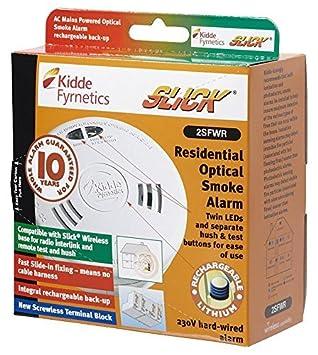 KIDDE 2SFWR bussman AC detector de humos óptico pulido 10 Jahr [1] (certificado personificación): Amazon.es: Bricolaje y herramientas