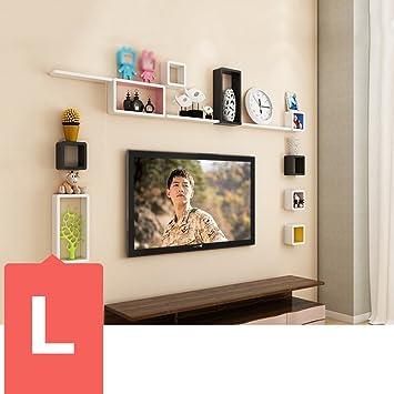 Amazon De Dididd Wand Regal Tv Wand Dekorationen Wohnzimmer