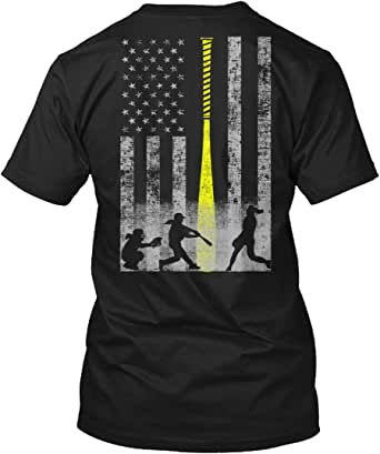 Teespring Unisex Softball Flag - Great Gift for Women's Fastpitch Athletes Hanes Tagless T-Shirt
