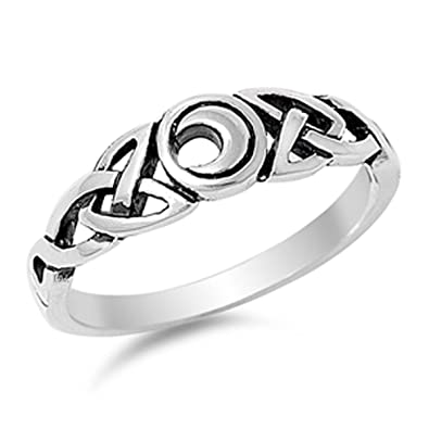 split band mx with ring celtic ladies rings knot silver trinity