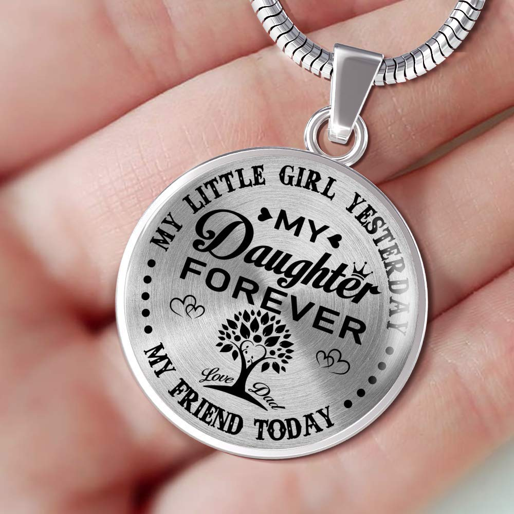 Necklace Gifts for Daughter from Dad Luxury Necklace Silver or Gold On Birthday Gifts from Dad Anniversary Adult Daughter Gifts Gifts for Adult Daughter Includes Gift Box! Mom