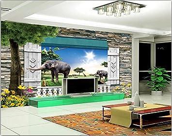 Chan Mei 3D Wallpaper Custom Photo Natur Tier Gras Dekoration Malerei 3D  Wandbilder Hintergrund Für