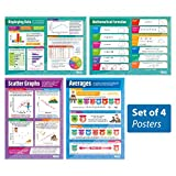 "Probability and Statistics - Set of 4 | Classroom Posters for Math | Gloss Paper measuring 33"" x 23.5"" 
