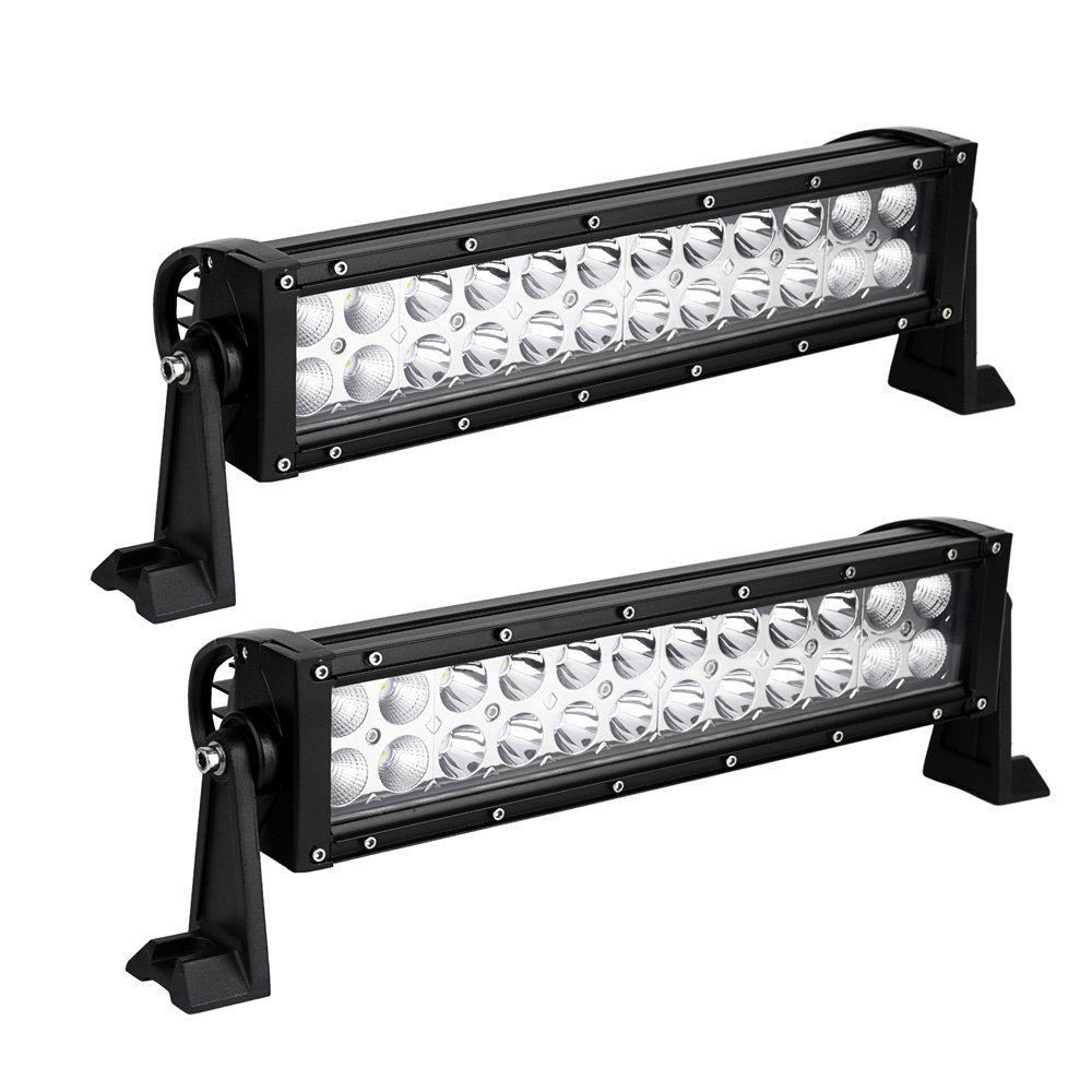 12inch Led Light Bar,Spot Flood Combo Off Road Driving Led Light Bar,Waterproof for Jeep ATV AWD SUV 4WD 4x4 Pickup Trucks Boat, 72W, 7200LM,Pack of 2 yitamotor B072-52