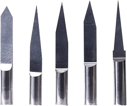 10pcs 30° 0.5mm Carbide Engraving Bits Conical Flat Tool for CNC Router 3.175mm