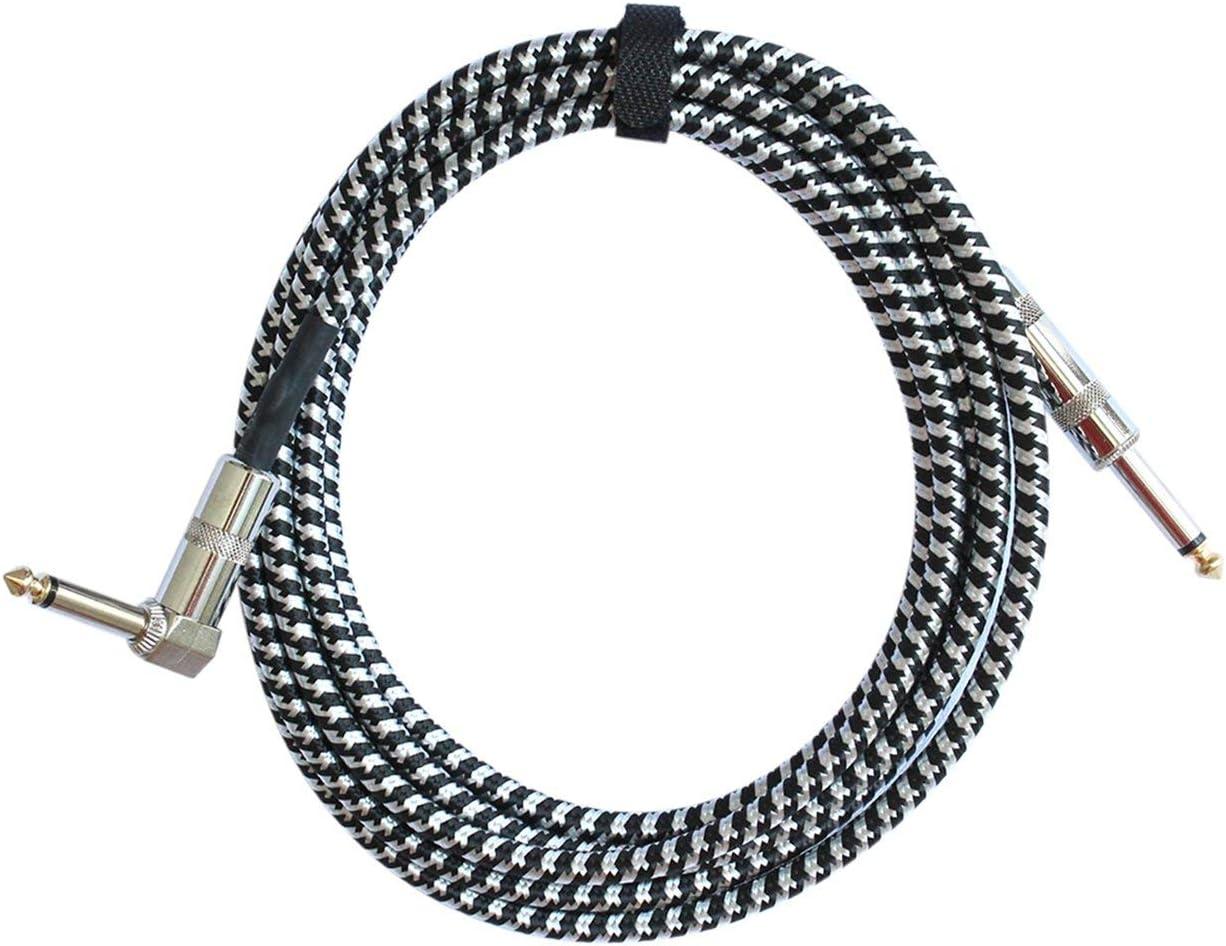 Lorenlli Mono Jack Gitarrenkabel Audio Stecker zu Stecker Kabel Draht Stricken Kupfer 6,35 mm gerader Stecker f/ür elektrische Instrumente