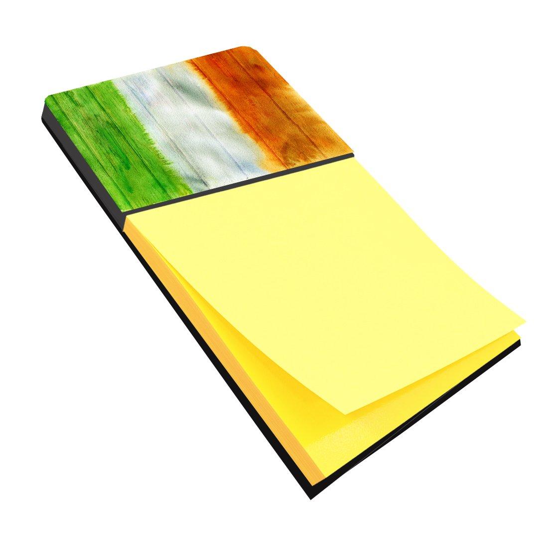 Caroline's Treasures BB5753SN Irish Flag on Wood Sticky Note Holder, Large, multicolor   B06WD1VC64