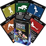 Exercise Cards: Strength Stack 52 Bodyweight Workout Playing Card Game. Designed by a Military Fitness Expert. Video Instructions Included. No Equipment Needed. Burn Fat and Build Muscle at Home.