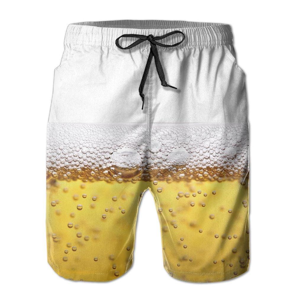 Men Beer Summer Quick-drying Swim Trunks Beach Shorts Thunder LL