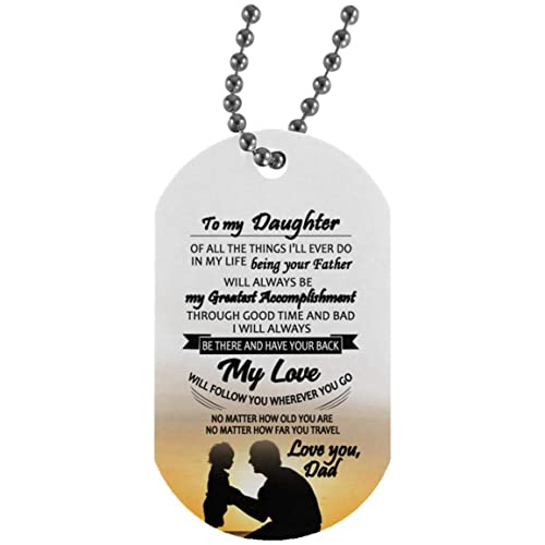Amazon.com: My Son Dog Tag Military from Dad - Father and ...