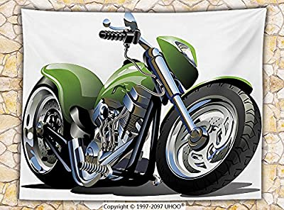 Motorcycle Decor Fleece Throw Blanket Motorcycle Design with Fancy Supreme Gears and Metal Tires Action Urban Lifestyle Throw