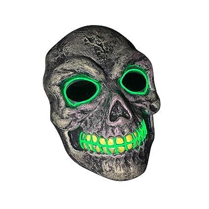 SOUTHSKY LED Mascara Craneo Mascara Disfraz de Luces Neon ...