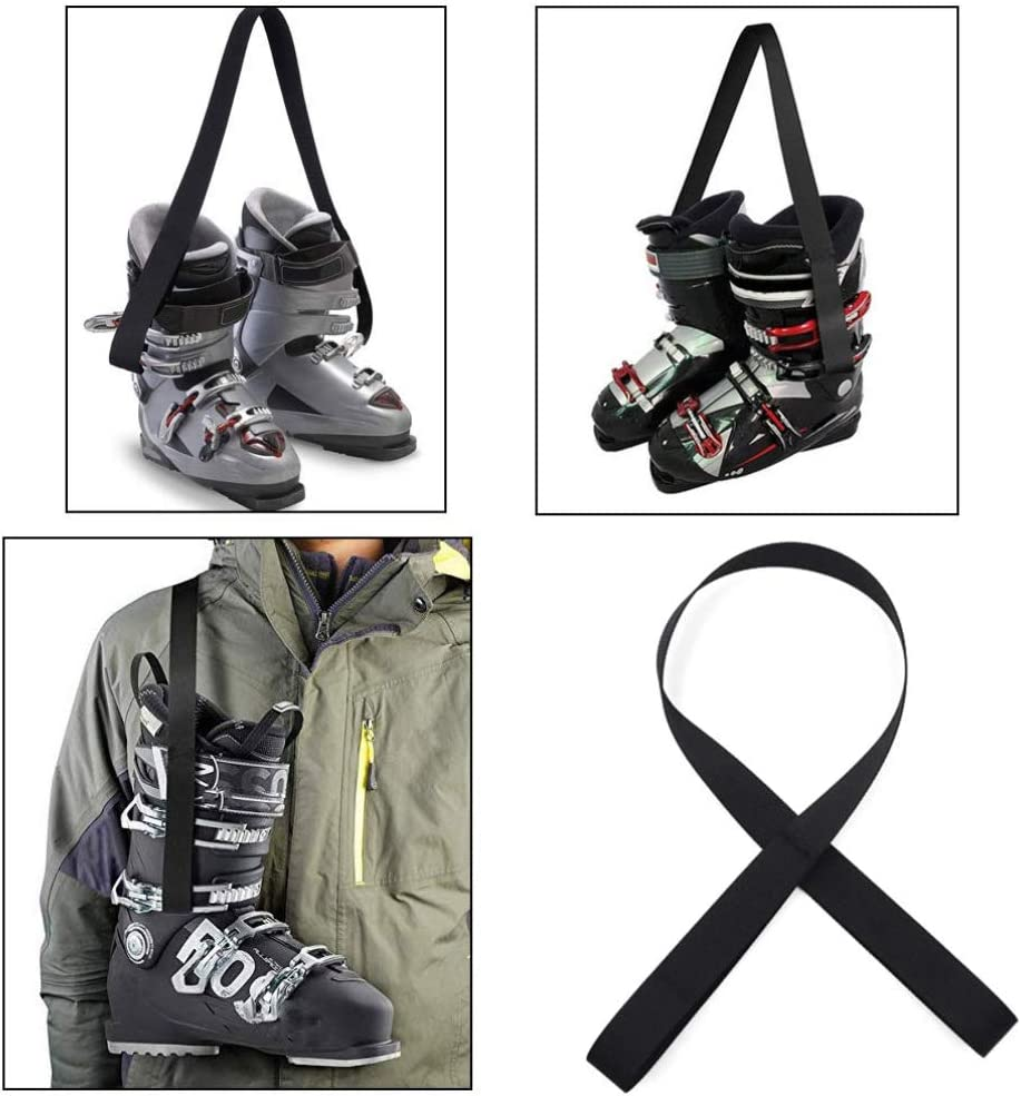 Skiing Accessories BREEZEY Ski Boots Carrier Strap Snowboard Boot Shoulder Sling Leash Carrying Belt