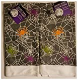 NWT Halloween Kitchen Towels Set of 2 Spider Web 15''X25''