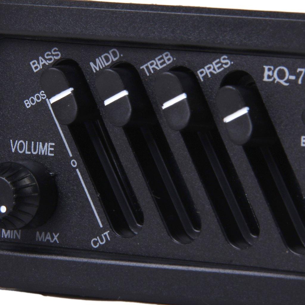 Completo Kit De EQ Pre-Amp Más Pastilla Pickup Para Guitarra Acústica 7545R: Amazon.es: Instrumentos musicales