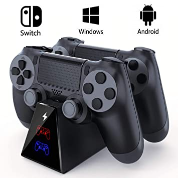 Cargador Mando PS4, EXTSUD Estacion de Carga PS4 Cargador ...