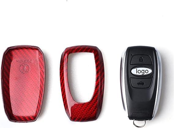 Fits Subaru Outback Forester XV Legacy Levorg Smart Keyless Start Stop Engine Car Key Carbon Fiber Key Fob Cover for Subaru Key Fob Remote Key Black MissBlue 4333167267 Light Weight Glossy Key Fob Protection Case