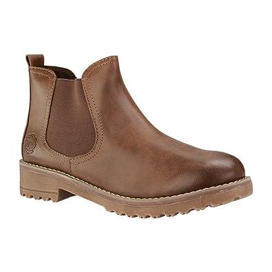 MARCO TOZZI 25496 Damen Chelsea Boots Braun Schuhe in