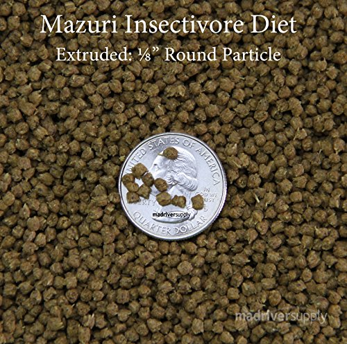 Mazuri Insectivore Diet, Designed For A Range Of Insect-Eating Mammals, Birds, Reptiles And Amphibians (Shrews, Hedgehogs, Sugar Gliders, Anteaters, Swifts, Swallows, Bearded Dragons & More, 20oz(0.5kg) by Mazuri (Image #1)