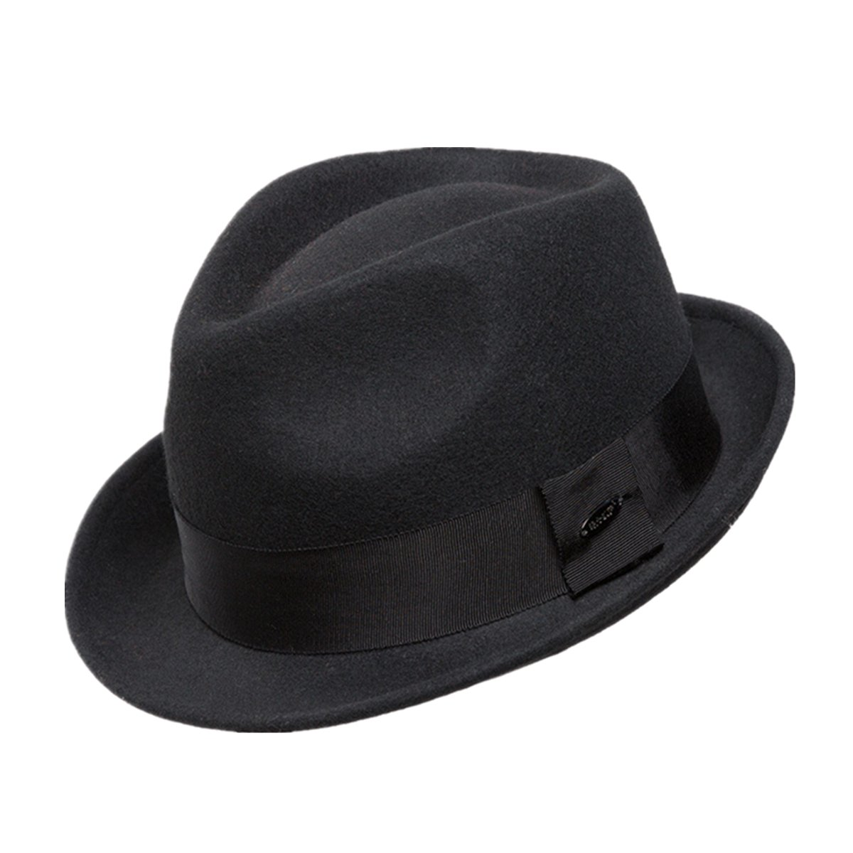 6356503110b Home Prefer Men s Wool Felt Winter Hat Short Brim Fedora Hat at Amazon  Men s Clothing store