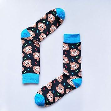 Calcetines de los Hombres Personalidad Harajuku Calcetines Divertidos Dibujos Animados Encantador Animal Rana Color Hechizo Elegir Calcetines Hombre Algodón Casual Calcetines callejeros: Amazon.es: Deportes y aire libre