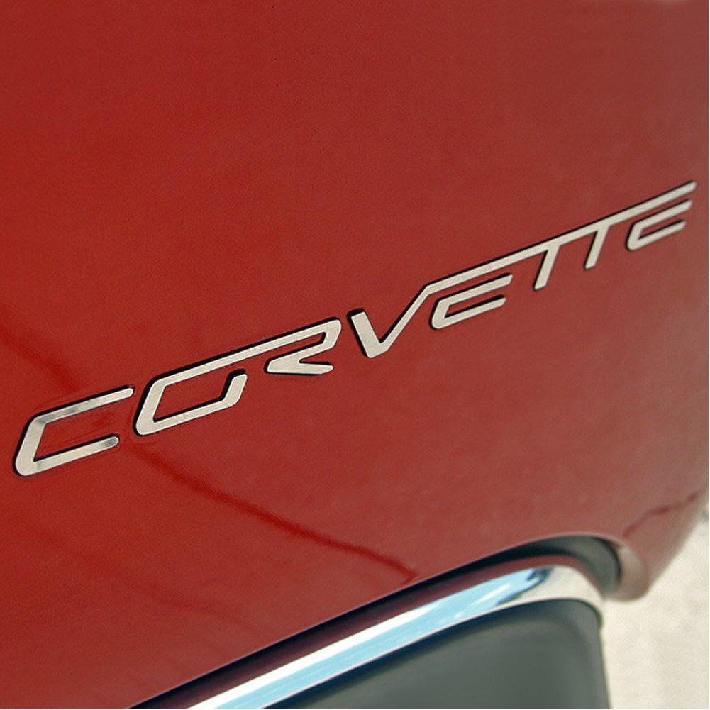 : C6,Z06,ZR1,Grand Sport Corvette Rear Letters Mirror Finish Stainless Steel Set