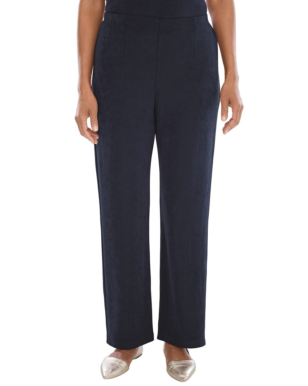 Chico's Women's Travelers Classic No Tummy Pants Size 12/14 L (2) Tall Blue
