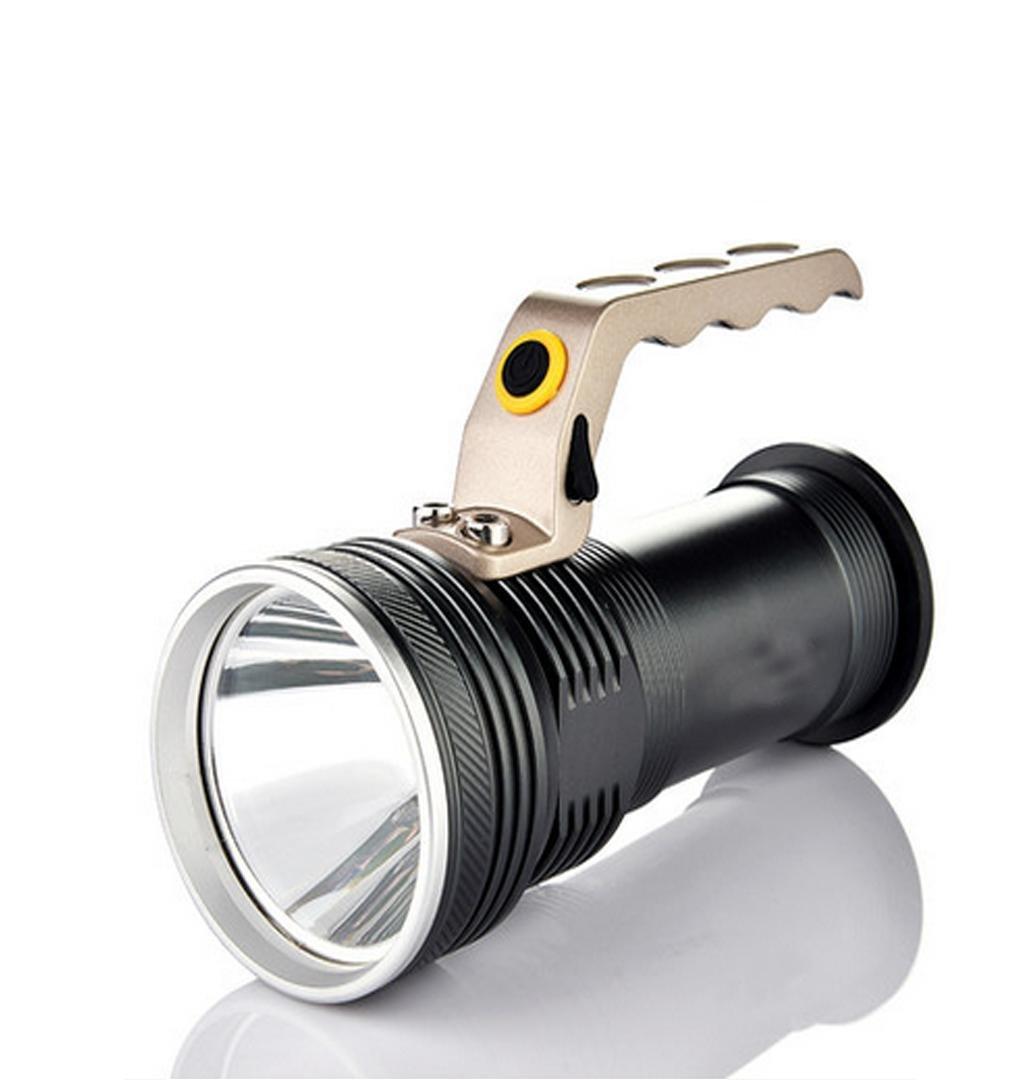 Jia & ER Outdoor Fernbereich Taschenlampe Xenon Super Helle LED halten Laden und starker Haushalt tragbar Searchlight hellgrau