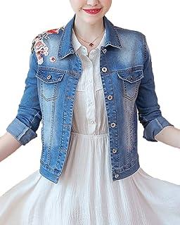 Veste en jean femme courte clair