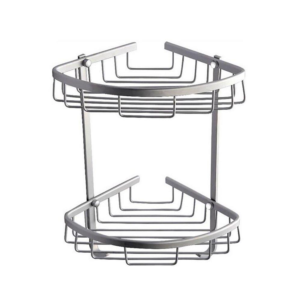 FeN Triangular Shelf,Bathroom Storage Holder,Kitchen Spice Rack,Hotel Aluminum Alloy Torage Organizer Shelves,Wall Mount