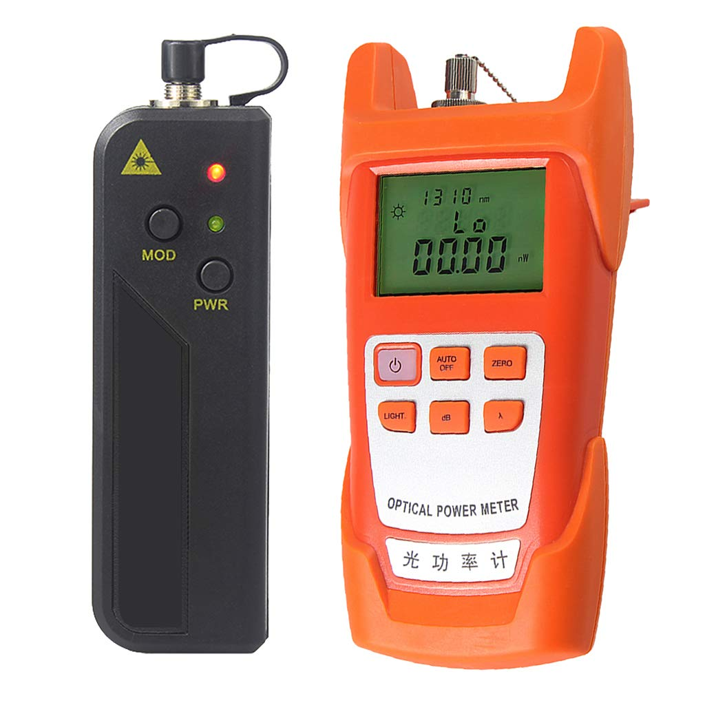 Baosity A Set Fiber Optic Cable Tester Optical Power Meter with Sc & Fc Connector Fiber Tester +10mW Visual Fault Locator for CATV Test,CCTV Test (VFL)