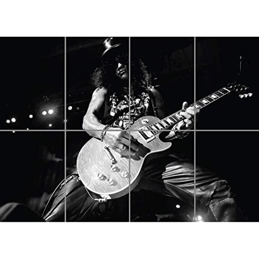 SLASH GUNS AND ROSES ROCK MUSIC GIANT ART PRINT AFICHE ...