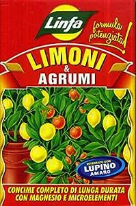Abono para limones y cítricos organomineral, de alta fertilidad biológica, en paquete de 1kg
