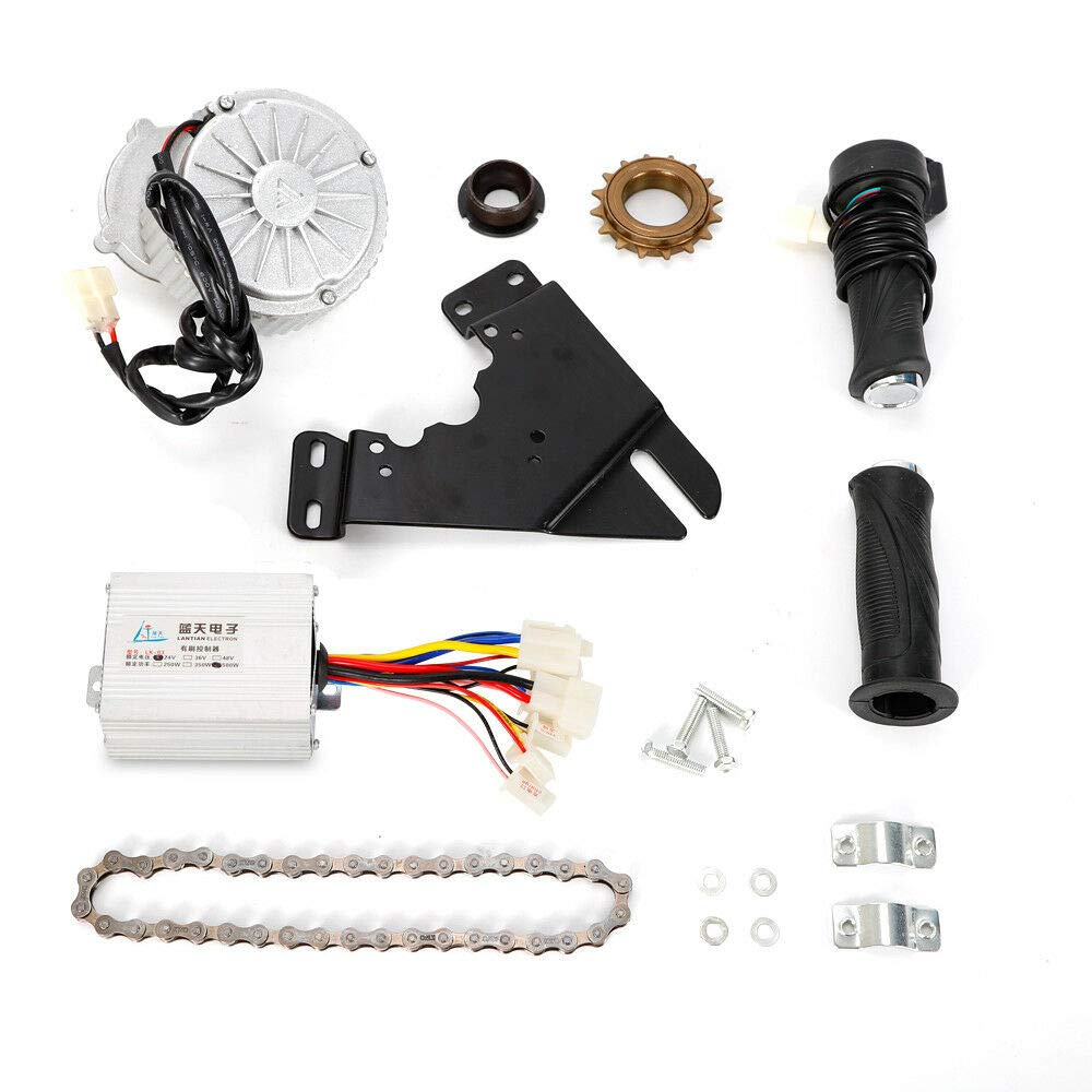ONEPACK E-Bike Motor Kit Electric Multiple Speed Bicycle Conversion Kit for Left Chain Drive - 450W 36V,US Warehouse