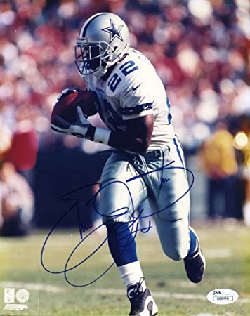 0d80d7246 EMMITT SMITH JSA COA Autographed 8X10 Photo Hand Signed Authentic at  Amazon s Sports Collectibles Store